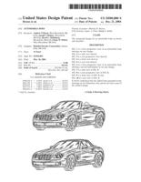 Chrysler car design patent